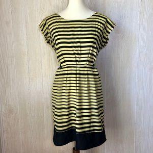 BeBop Striped Dress Yellow & Black Size Medium 🐝